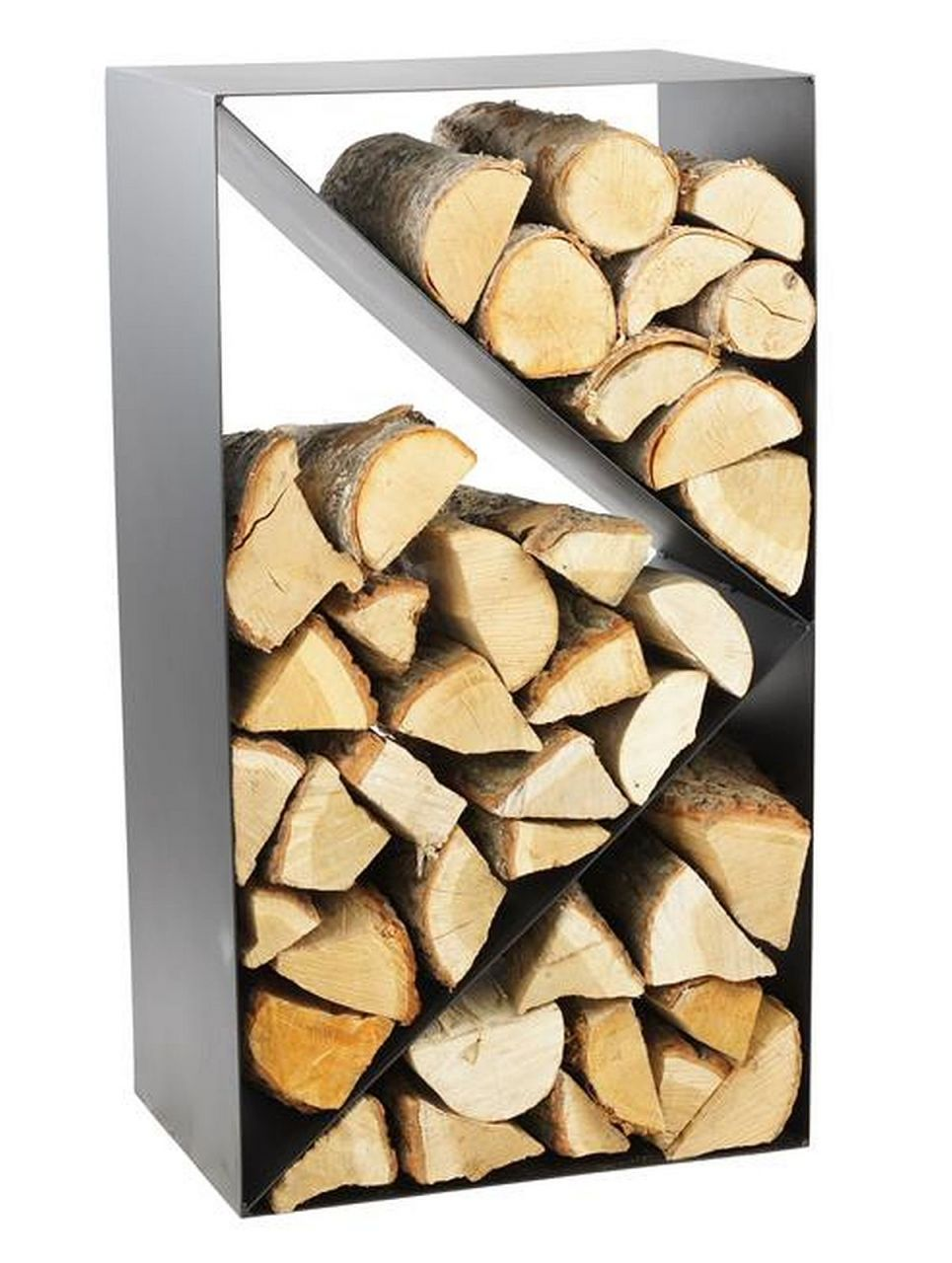 Holzständer Für Kaminholz kaminholzregal stahl schwarz 3 fächer holzständer handgefertigt n-br