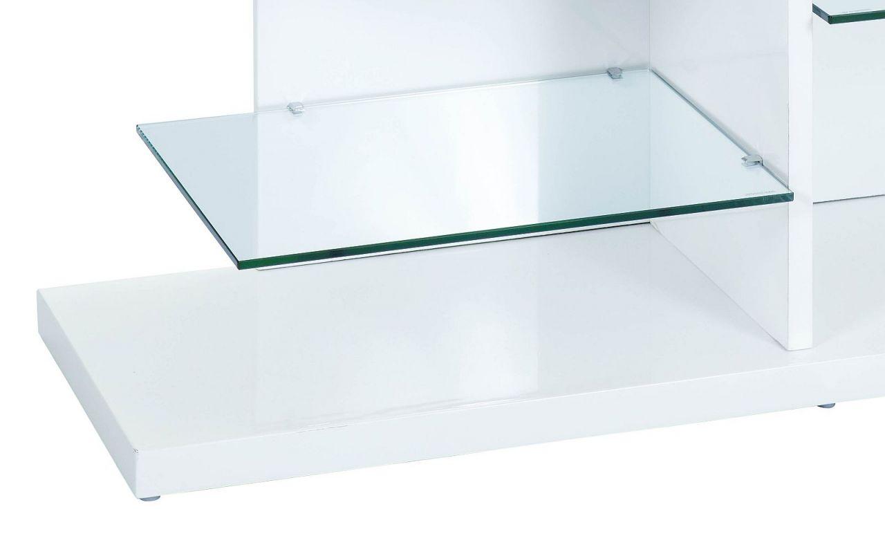 tv rack hochglanz wei glas tv board fernsehschrank l centrik kaufen bei eh m bel. Black Bedroom Furniture Sets. Home Design Ideas