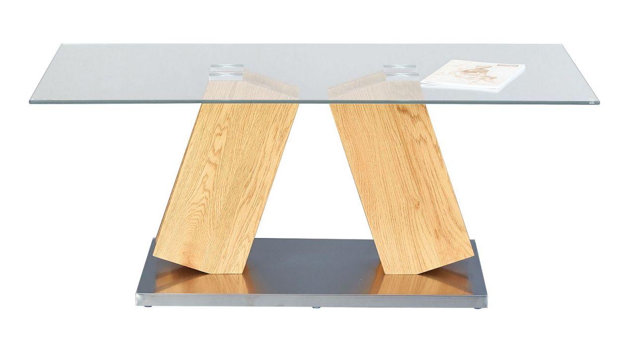 Couchtisch rechteckig 110 x 60 cm materialmix wildeiche for Couchtisch glas rechteckig