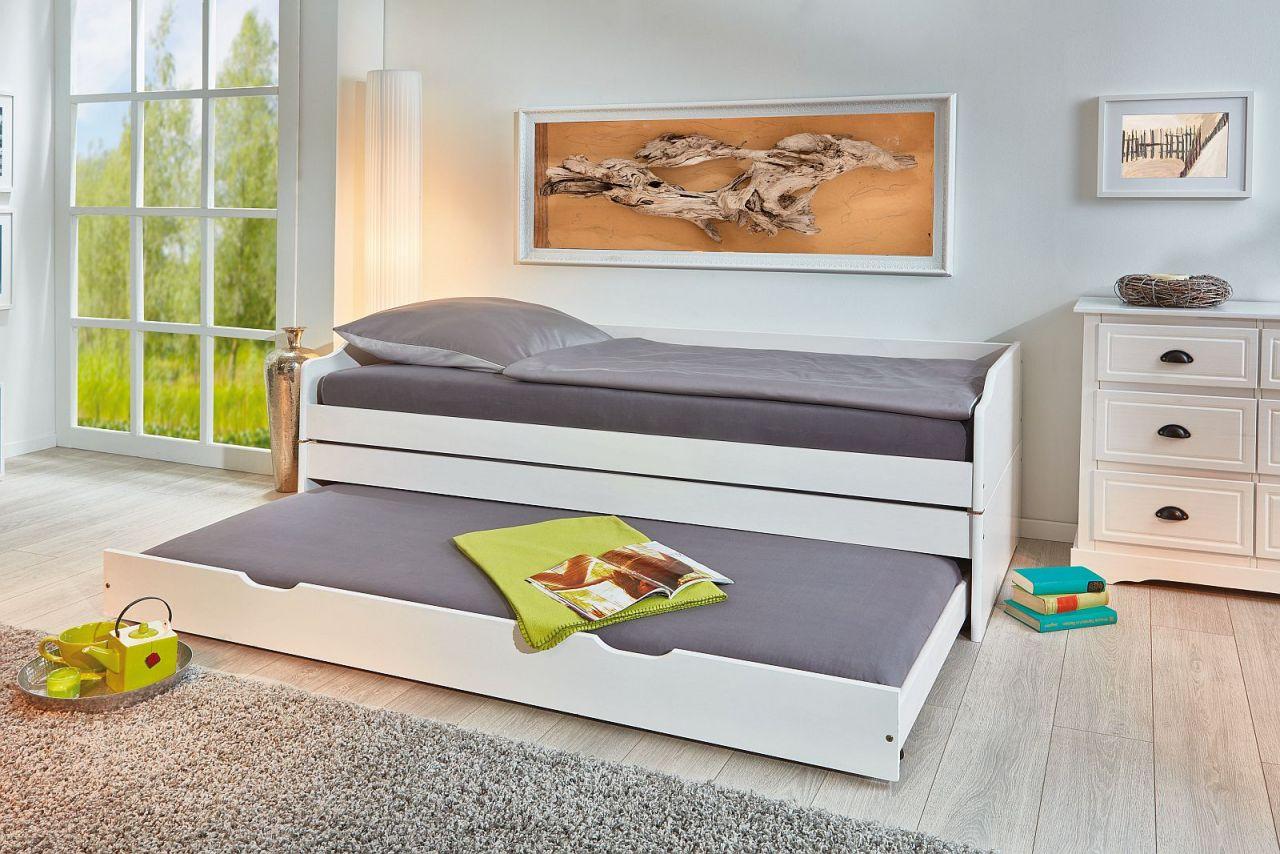 klappbett 1 bett 3 schlafpl tze inkl lattenroste massivholz 2 farben 90 x 200 cm 80 x 190 cm l. Black Bedroom Furniture Sets. Home Design Ideas