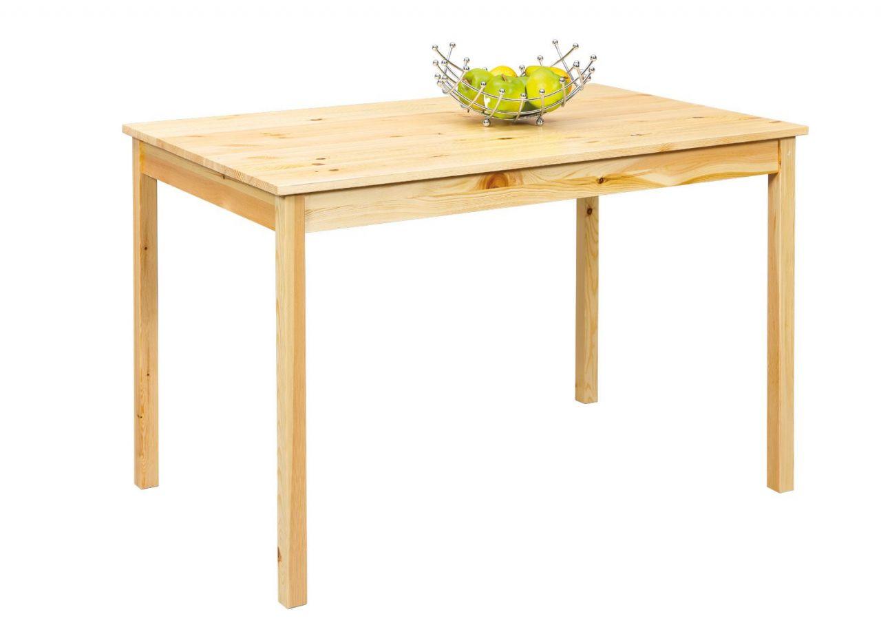 Entzückend Esstisch Massivholz Weiß Dekoration Von Tisch 2 Farben Wählbar Stil Weiß Natur