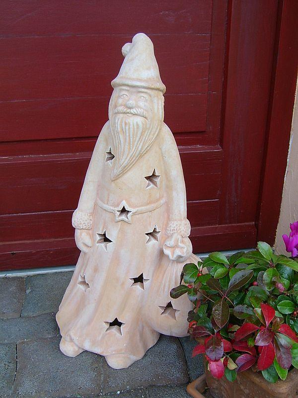 Außendekoration Weihnachten.Windlicht Terracotta Nikolaus H 58 Cm Außendekoration Weihnachten F Weihnachtsmann