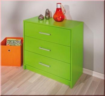 Kommode Kiefer Massivholz 3 Schubladen 4 Farben grün blau pink weiß L-Nixon