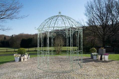 Pavillon Pergola Metall Eisen 6 antik Farben Höhe 313 cm CL-Loretta