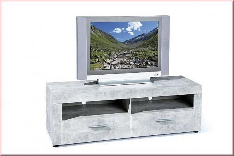 Lowboard TV Schrank Beton-Optik 2 Farben 2 Fächer 2 Schubladen L-Brain