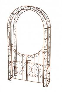 Rosenbogen inklusive Gartentür Eisen 6 Antik-Farben CL-Shiva