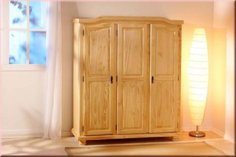 Schrank Kleiderschrank Dielenschrank 2 Größen Kiefer Massivholz Landhausstil L-Bari