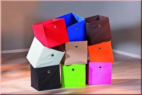 Aufbewahrungsbox Faltbox Faltkiste 10 Farben 32 x 32 x 32 cm L-Wicky - Vorschau 2