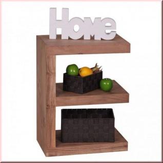 Design Beistelltisch Regal Massivholz 2 Holzarten E Cube Konsole W-E1304