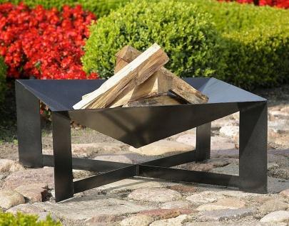 XL Design Feuerschale 70 x 70 x 30 cm 2 Varianten Feuerkorb pyramidische Form N-P34