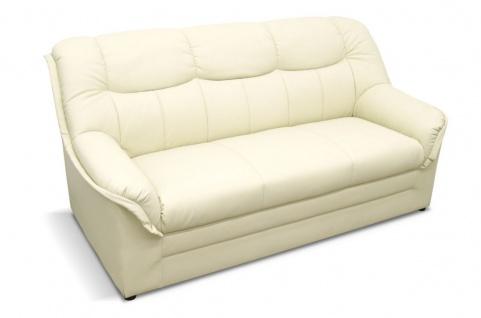 2-teilige Polstergarnitur 2-Sitzer Sofa 3-Sitzer Couch Federkern 3 Farben Kunstleder DO-Boston-3 - Vorschau 3
