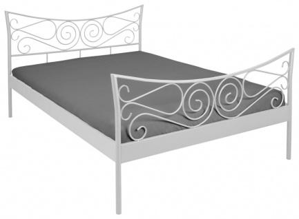 Metallbett Doppelbett 2 Farben weiß schwarz Bett 2 Größen 140 cm 180 cm R-Jinny