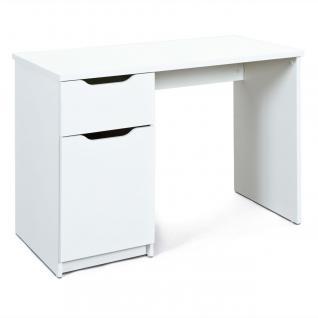 Schreibtisch 2 Farben 1 Schublade 1 Tür 2 Fächer Sonoma weiß L-Weddy-D