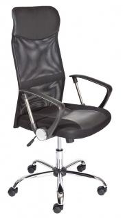 Schreibtischstuhl Bürostuhl schwarz höhenverstellbar Wippmechanik L-Tori