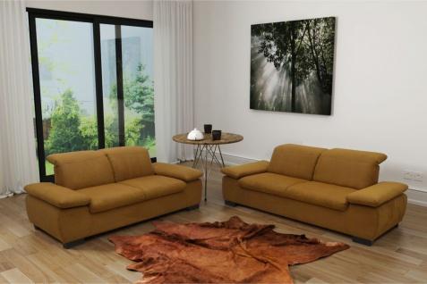2-tlg. Couchgarnitur inkl. Armlehnen- Rückenfunktion Federkern Sofa Microfaser Farbwahl DO-Maki