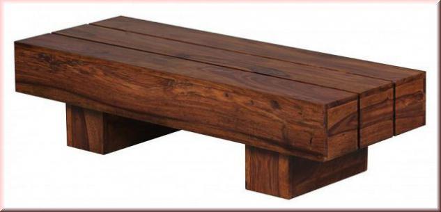 design couchtisch massivholz 2 holzarten akazie sheesham balkendesign w cb1325