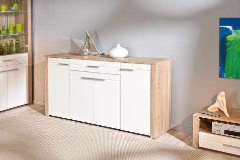 Sideboard 176 x 89 cm 2 Farben Kommode Holzoptik 2-farbig L-Aquilla-1/2