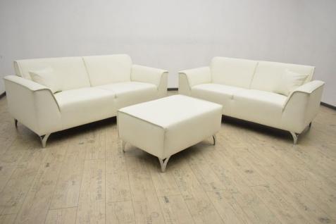 3-teilige Couchgarnitur 2-Sitzer Sofa 2, 5 Sitzer Couch Hocker Bezug/Farbwahl DO-Meli