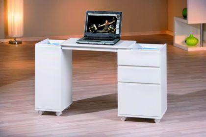 Laptoptisch zusammenschiebbar Rollcontainer ausziehbar 66-121 cm 2 Farben L-LapOf
