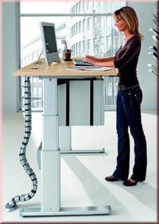 Schreibtisch Up & Down elektr. höhenverstellbar Stehpult 120-180 cm 6 Farben S-W-Crow