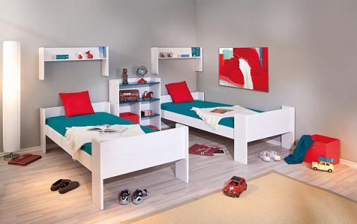 Etagenbett 2x Einzelbett Lattenroste Massivholz weiß L-Dreamy - Vorschau 2