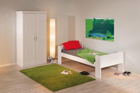 Etagenbett 2x Einzelbett Lattenroste Massivholz weiß L-Dreamy - Vorschau 3