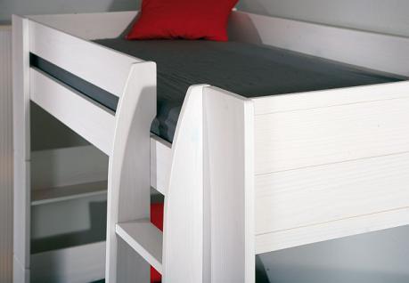 Etagenbett 2x Einzelbett Lattenroste Massivholz weiß L-Dreamy - Vorschau 5