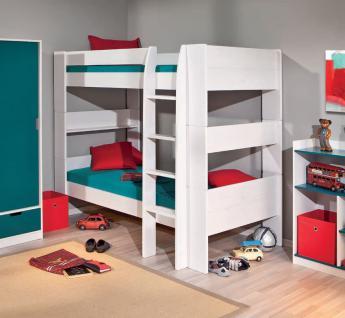 Etagenbett 2x Einzelbett Lattenroste Massivholz weiß L-Dreamy - Vorschau 1