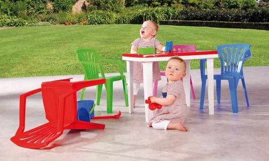 Gartentisch Kindertisch Stiftehalter Tischplatte aufklappbar Staufach BF-Alibaba-T - Vorschau 5