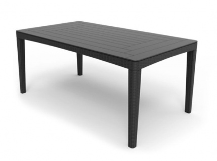 Gartentisch 160 x 90 cm 2 Farben graphit cappuccino wetterfest BF-Vilea