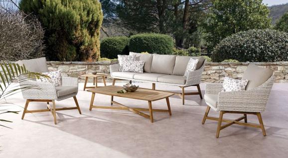 Lounge Beistelltisch Teakholz massiv Indoor Outdoor BF-Palma - Vorschau 4