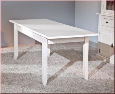 Esstisch ausziehbar weiß landhaus  Tisch ausziehbar Esstisch Ausziehtisch Landhausstil Massivholz matt ...