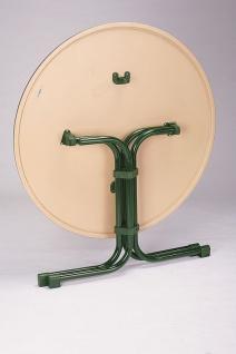 Gartentisch klappbar rund 3 Größen 6 Farben Klapptisch Werzalittischplatte BF-Boule-R - Vorschau 2