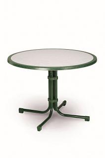 Gartentisch klappbar rund 3 Größen 6 Farben Klapptisch Werzalittischplatte BF-Boule-R - Vorschau 4