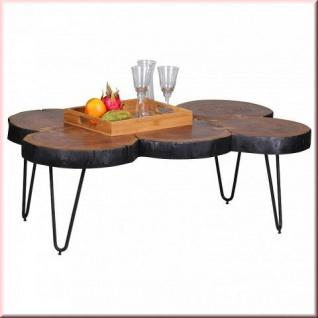 couchtisch massivholz 2 holzarten baumstamm tischplatte vollholz unikat handgefertigt w cb991509