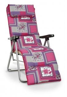 Relaxliege Liegestuhl inkl. Polsterauflage Kopfkissen BF-Adria