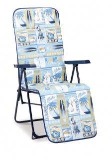 Relaxliege verstellbar Polsterung 2 Farben Liegestuhl Liege zusammenklappbar BF-Gardasee-R