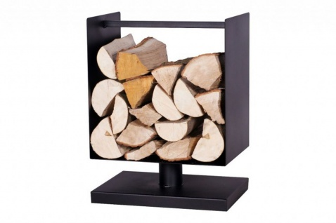Brennholzregal Stahl schwarz U-Form Handarbeit Kaminholzständer Brennholzständer N-BR-134