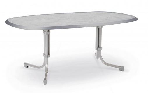 Gartentisch 3 Größen eckig oval 6 Farben Klapptisch klappbar Werzalittischplatte BF-Boule