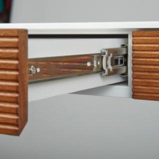 Schreibtisch Farb Materialmix Matt Weiss Fronten Massivholz Eiche
