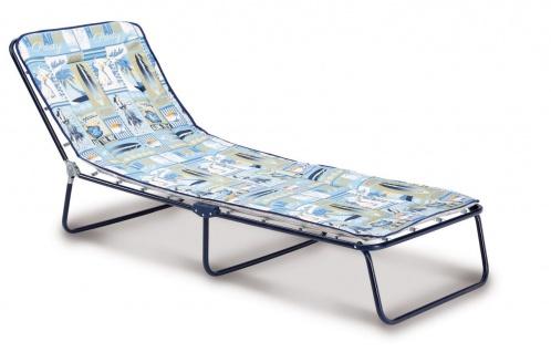 Dreibeinliege verstellbar 2 Farben Liegestuhl Liege zusammenklappbar BF-Gardasee-L