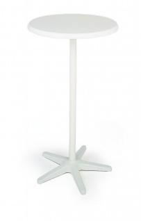 Stehtisch höhenverstellbar rund Ø 70 cm weiß anthrazit BF-Duett - Vorschau 2