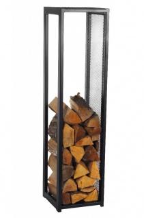 Brennholzregal Stahl schwarz Kaminholzständer Kaminholzregal H 120 cm N-BR-119