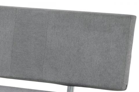 Sitzbank Rückenlehne Bank 140 cm Webstoff grau gepolstert bis 360 kg R-Stella - Vorschau 4