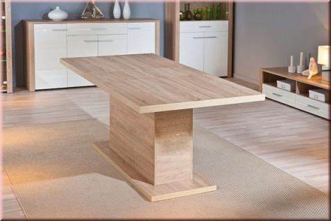 Tisch Esstisch ausziehbar 160-200 cm Ausziehtisch 2 Farben L-Aquilla-5/6