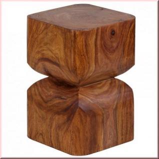Beistelltisch Massivholz 2 Holzarten Akazie Sheesham Vollholz Unikat handgefertigt Konsole W-B301562
