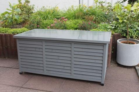 Auflagenbox Vintage 3 Farben Kissenbox 130 cm Holz Deckel wasserdicht LC-Box