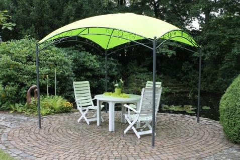 Pavillon Dach kuppelförmig 2 Farben Stahl Sonnenschutz Beschattung 3 x 3 m LC-Green
