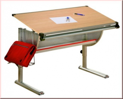 Kinderschreibtisch Schreibtisch Kindgerecht 3 Farben Höhen   Neigungsverstellbar L Ilba