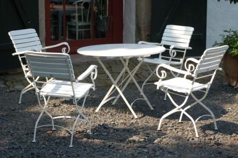 Tisch Gartentisch rund klappbar Robinie massiv AW-Franko-4 - Vorschau 2